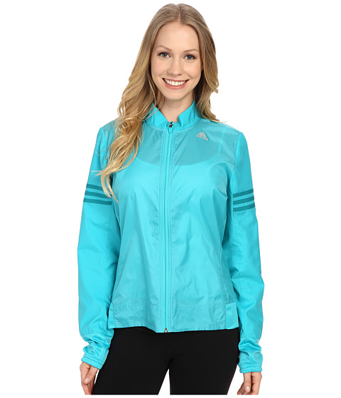 adidas - Response Wind Jacket (Shock Green/EQT Green) Women