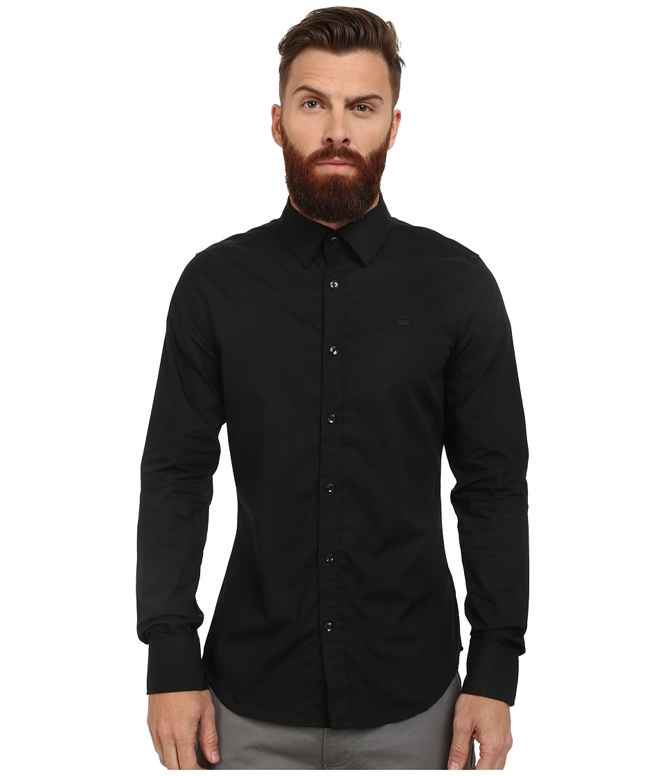 G-Star - Core Long Sleeve Shirt (Black) Men's Clothing