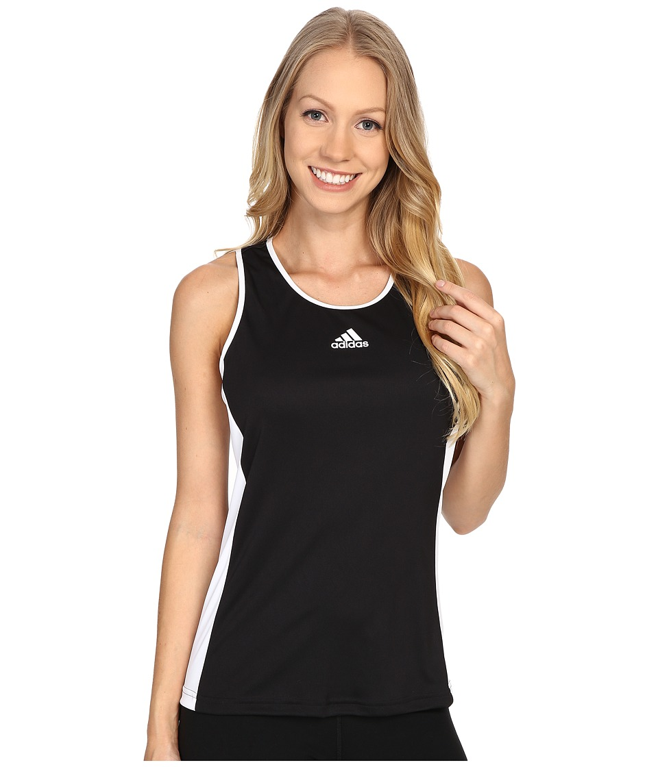 adidas - Court Tank Top (Black/White) Women's Sleeveless