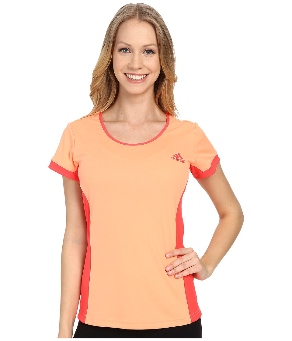 adidas - Court Tee (Sun Glow) Women's Short Sleeve Pullover