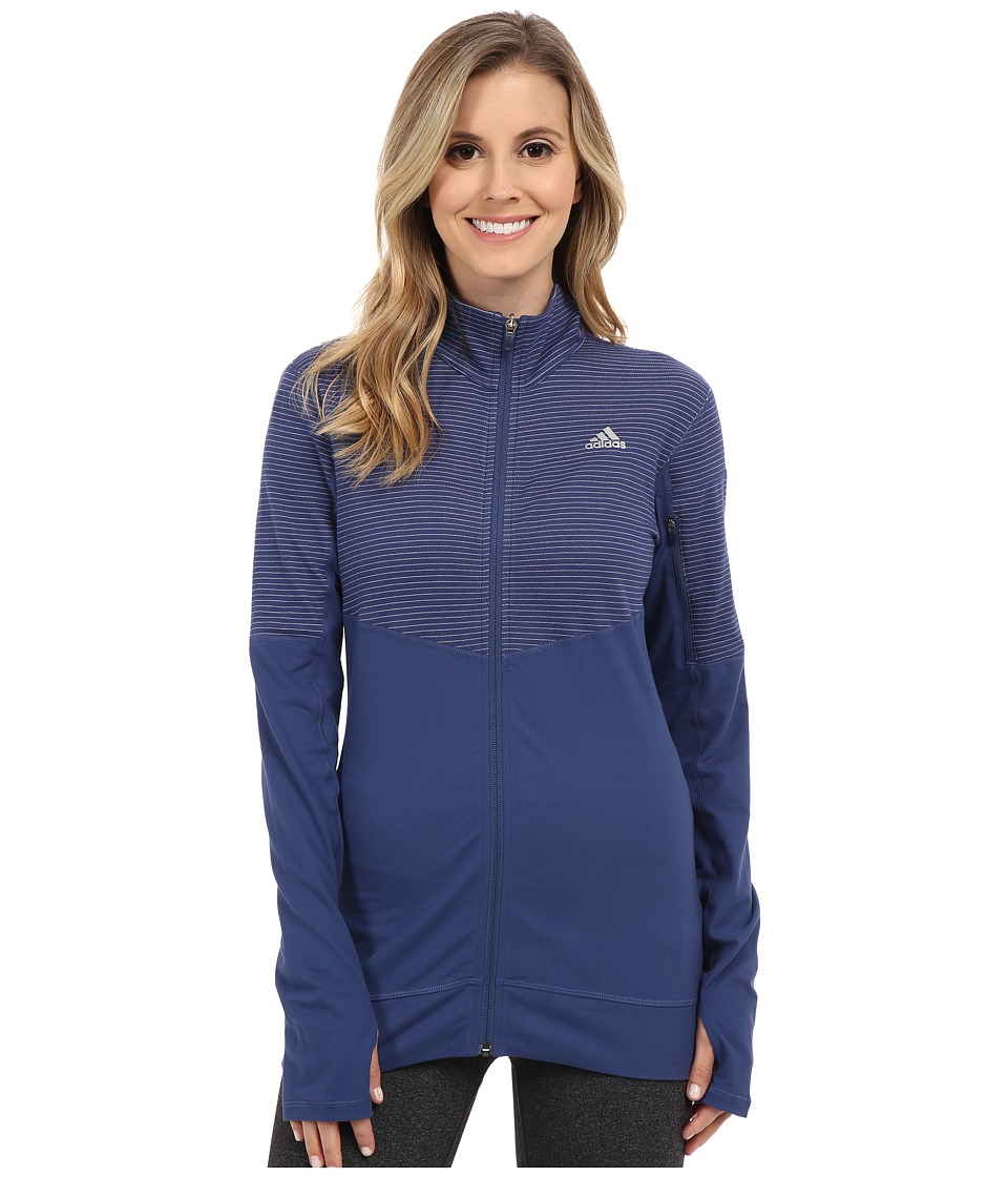 adidas - Lightweight Full Zip Jacket (Raw Purple/Raw Purple/Matte Silver) Women's Coat