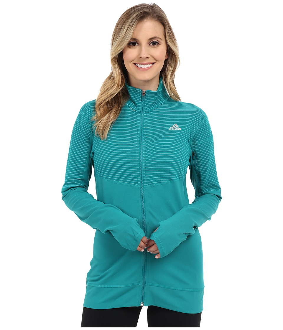 adidas - Lightweight Full Zip Jacket (EQT Green/EQT Green/Matte Silver) Women