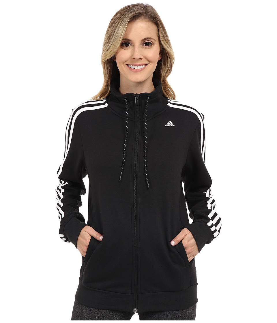 adidas - Essential 3S Track Top (Black/White) Women
