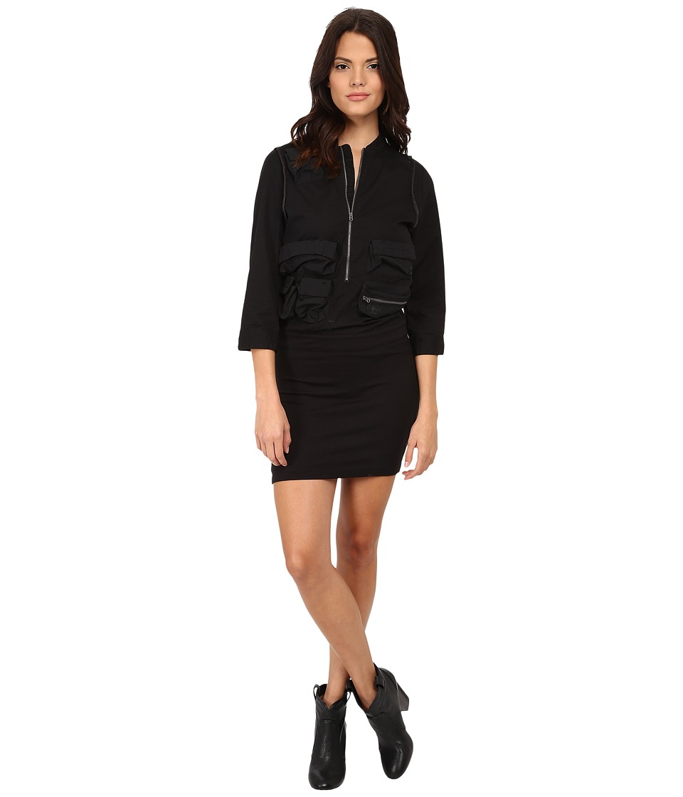 G-Star - Army Vick 3/4 Sleeve Dress (Black) Women's Dress