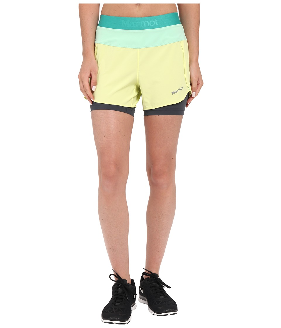 Marmot - Pulse Short (Citrus Ice/Green Frost) Women's Shorts
