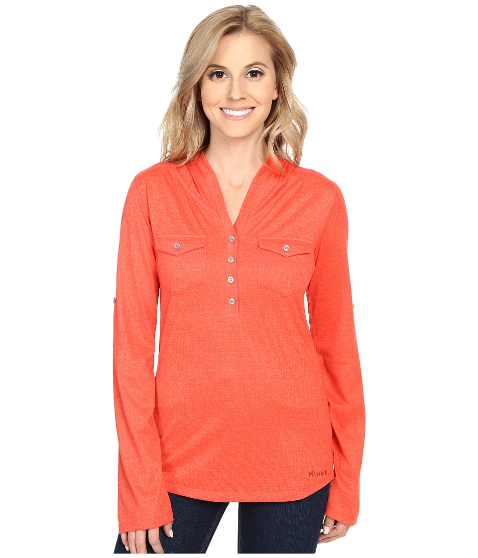 Marmot - Laura Long Sleeve (Red Apple) Women's Long Sleeve Pullover