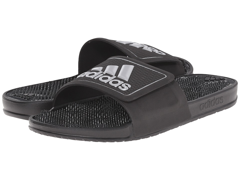 adidas - adissage 2.0 M Logo (Black/White) Men's Slide Shoes