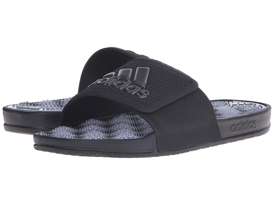 adidas - adissage 2.0 M Logo (Black/Night/Black(Graphic)) Men's Slide Shoes