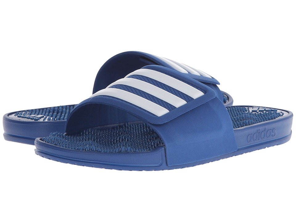 adidas - adissage 2.0 M Stripe (EQT Blue/White) Men's Slide Shoes