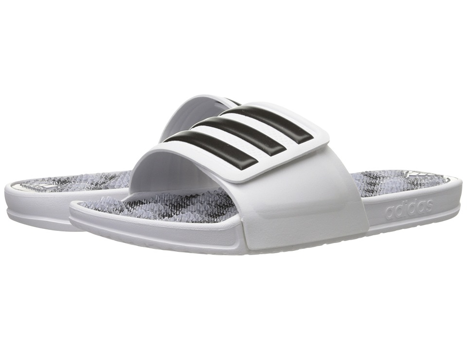 adidas - adissage 2.0 M Stripe (White/Black/White(Graphic)) Men's Slide Shoes