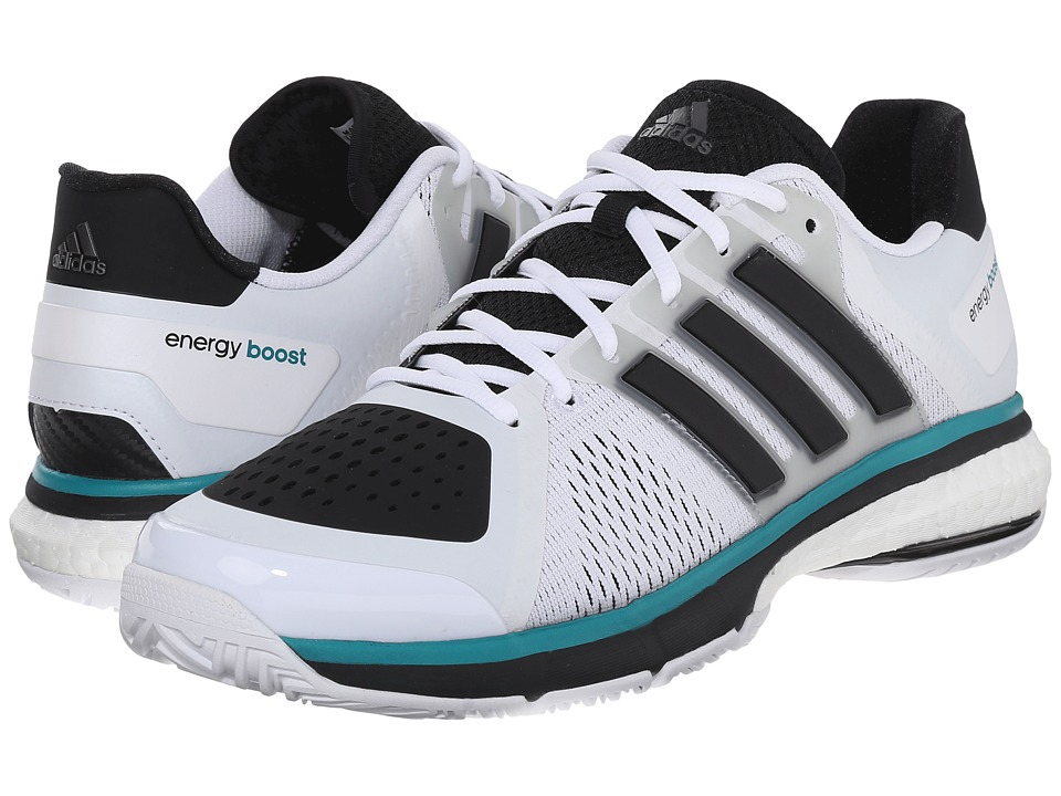 adidas - Tennis Energy Boost (White/Black) Men's Tennis Shoes