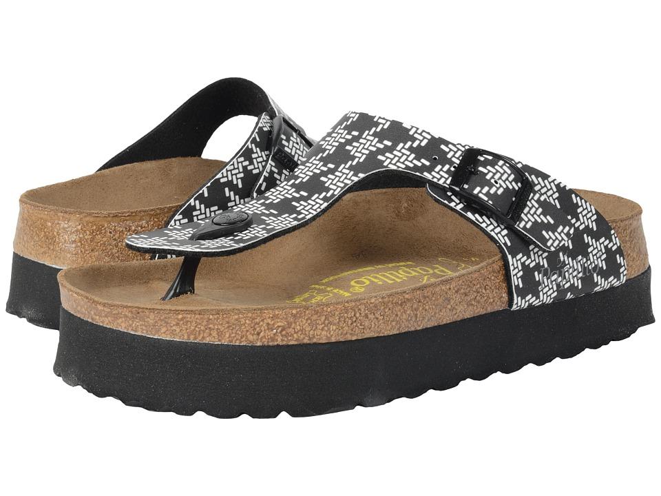Birkenstock - Gizeh Platform (Knotted Black Birko-Flor ) Women's Sandals