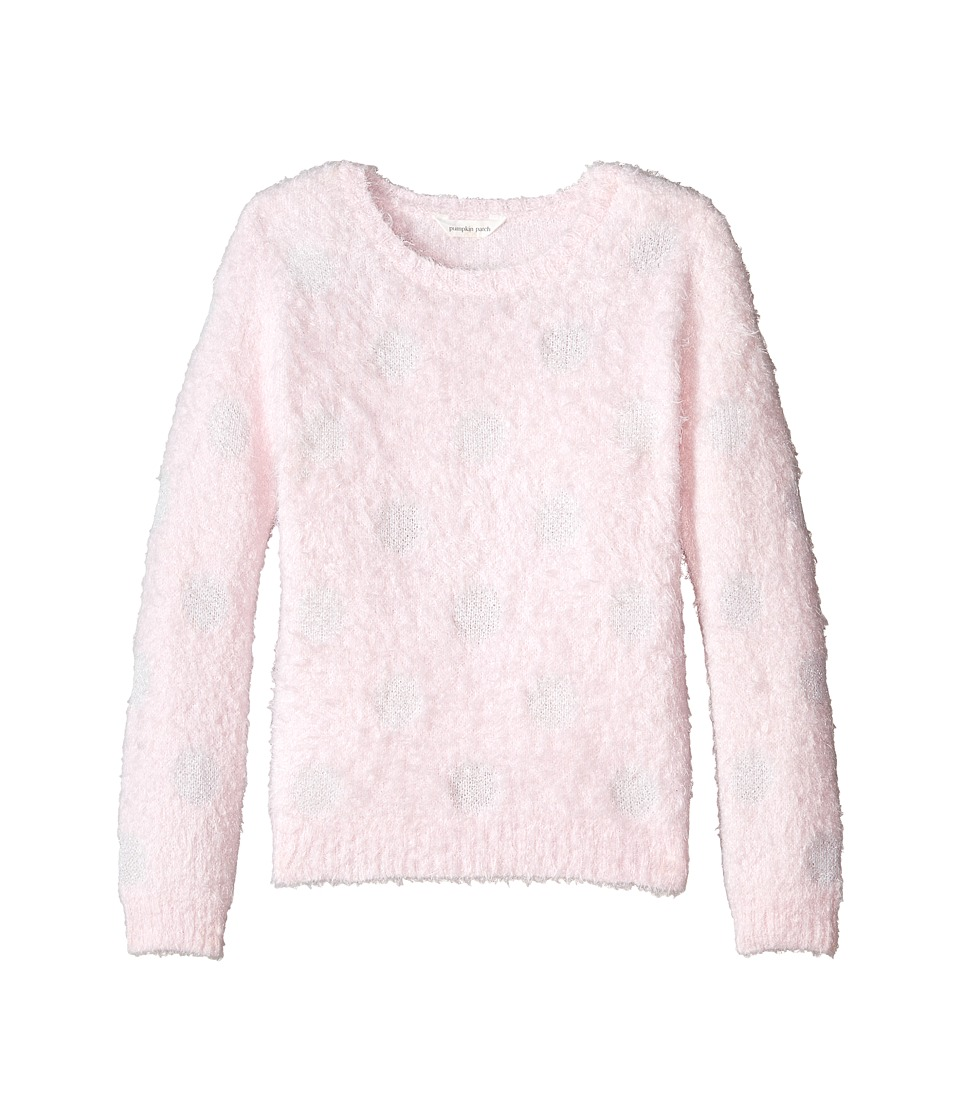 Pumpkin Patch Kids - Dance Academy Spotty Fluffy Jumper (Little Kid/Big Kid) (Rose Water) Girl's Sweater