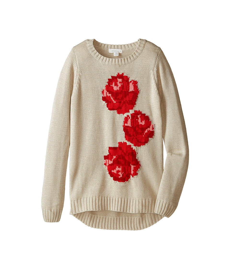 Pumpkin Patch Kids - Urban Folk Rose Jumper (Little Kids/Big Kids) (Putty) Girl's Sweater