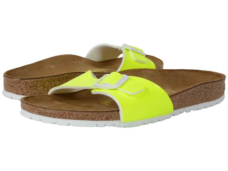 Birkenstock - Madrid (Neon Yellow Patent Birko-Flor ) Women's Shoes