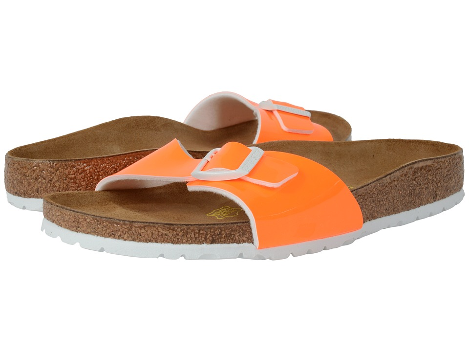 Birkenstock - Madrid (Neon Orange Patent Birko-Flor ) Women's Shoes