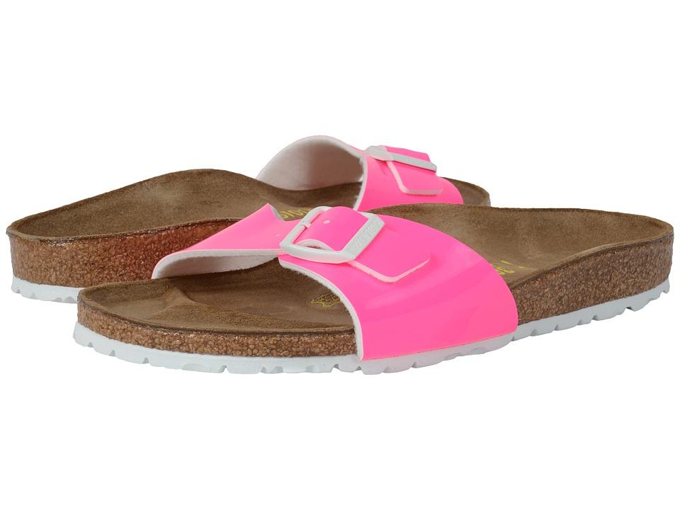 Birkenstock - Madrid (Neon Pink Patent Birko-Flor ) Women's Shoes