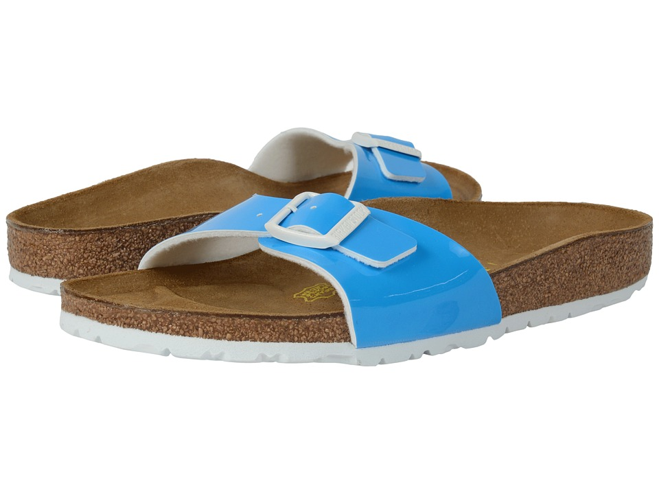 Birkenstock - Madrid (Neon Blue Patent Birko-Flor ) Women's Shoes
