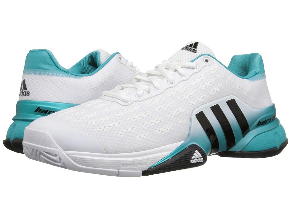 adidas - Barricade 2016 (White/Black/Shock Green) Men's Tennis Shoes