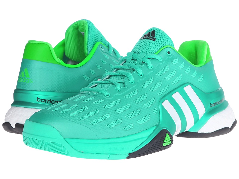 adidas - Barricade 2016 Boost (Shock Mint/White/Shock Lime) Men's Tennis Shoes