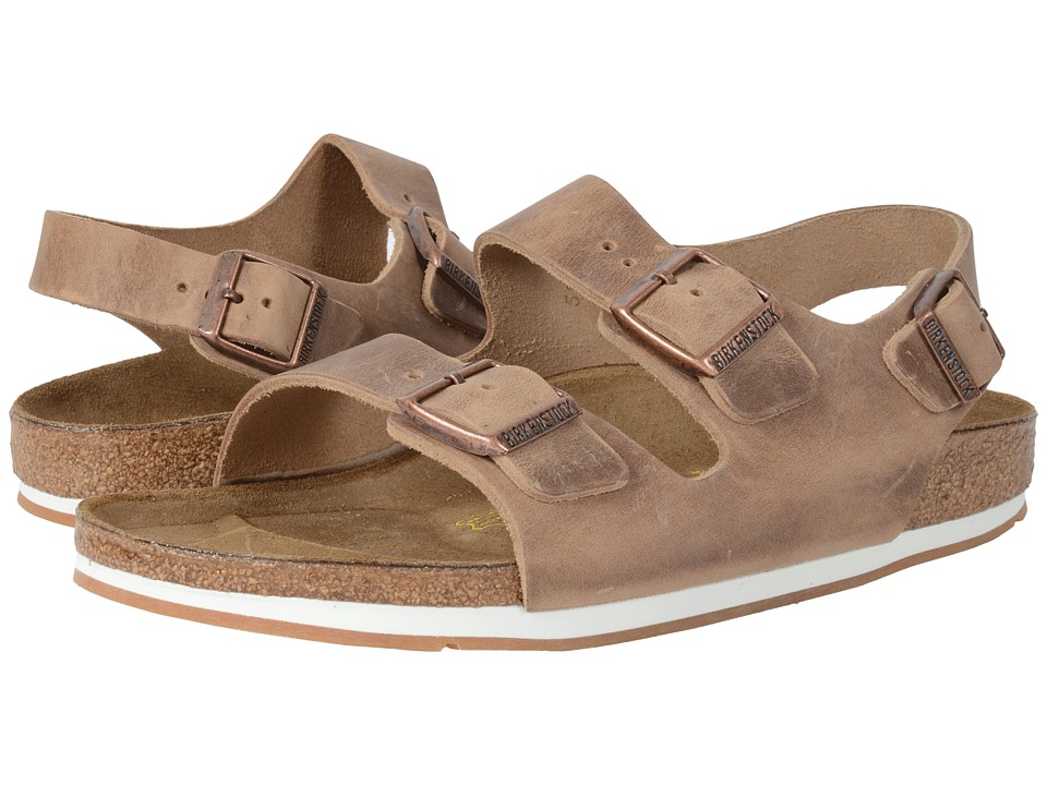 Birkenstock - Milano Sport (Unisex) (Tobacco Oiled Leather) Sandals