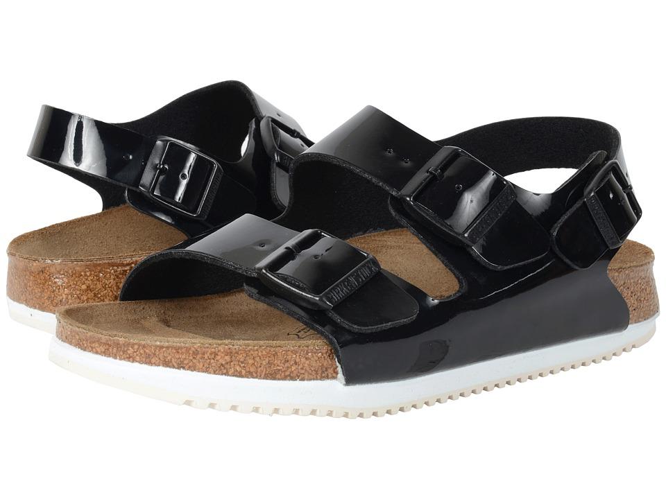 Birkenstock - Milano Super Grip (Unisex) (Black Patent Birko-Flor ) Sandals