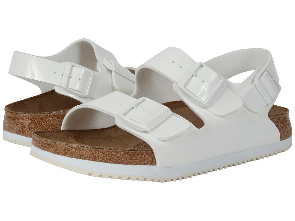 Birkenstock - Milano Super Grip (Unisex) (Bright White Patent Birko-Flor ) Sandals