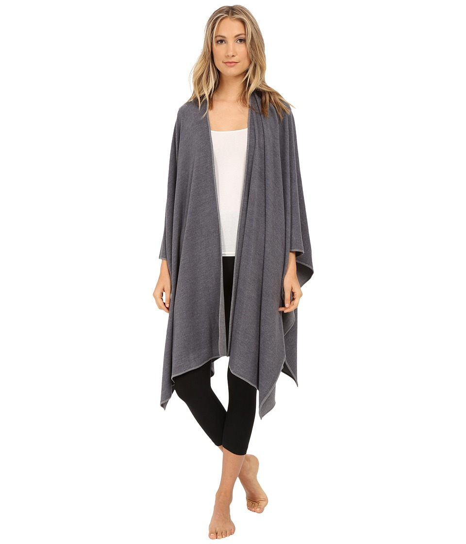 Natori - Brushed Blanket Wrap (Ash) Women