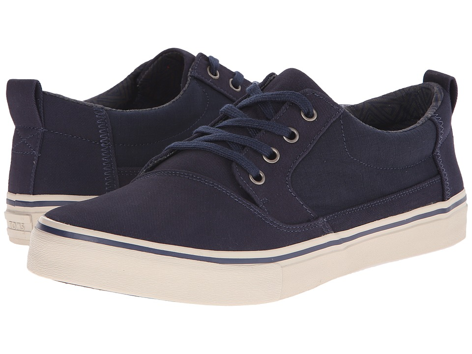 TOMS - Valdez (Navy Cotton Twill) Men's Lace up casual Shoes