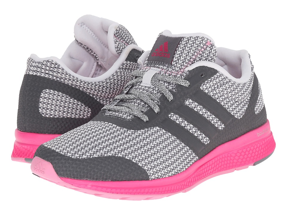adidas Running - Mana Bounce W (Vista Grey/Crystal White/Shock Pink) Women's Running Shoes