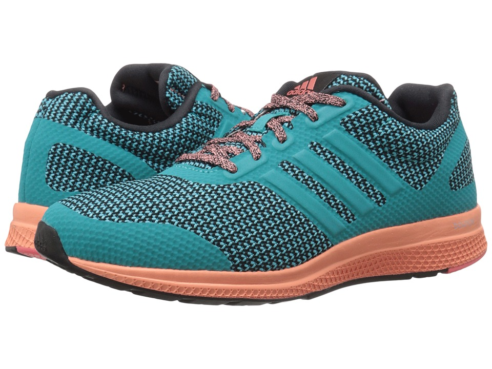 adidas Running - Mana Bounce W (Black/Shock Green/Sun Glow) Women's Running Shoes