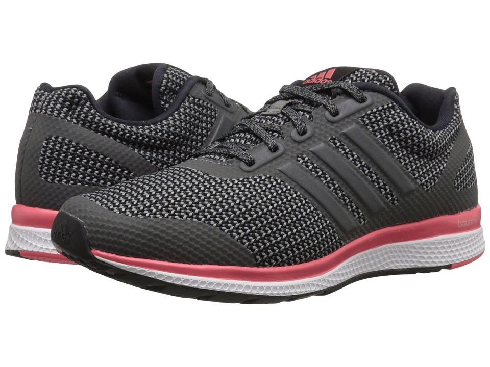 adidas - Mana Bounce W (Black/Vista Grey/Super Blush) Women's Running Shoes