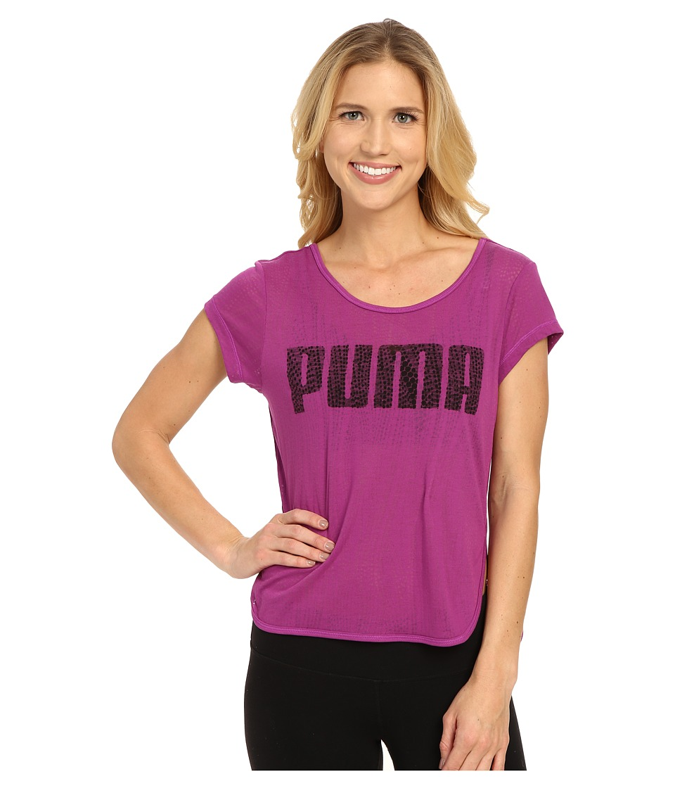 PUMA - Layer Tee (Purple Cactus Flower) Women
