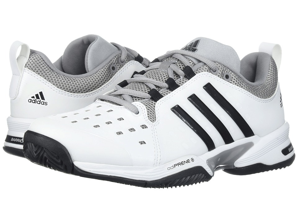 adidas - Barricade Classic Bounce (White/Black/Grey Heather) Men's Tennis Shoes
