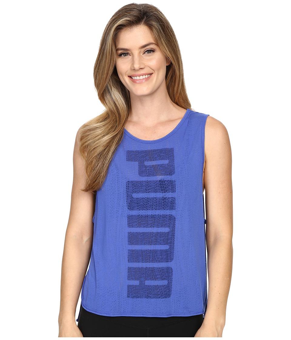 PUMA - Layer Tank Top (Dazzling Blue) Women's Sleeveless