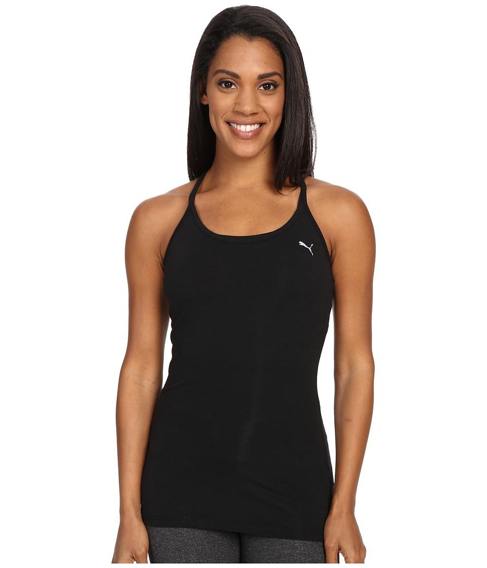 PUMA - Yogini Essential Layer Tank Top (Black) Women's Sleeveless