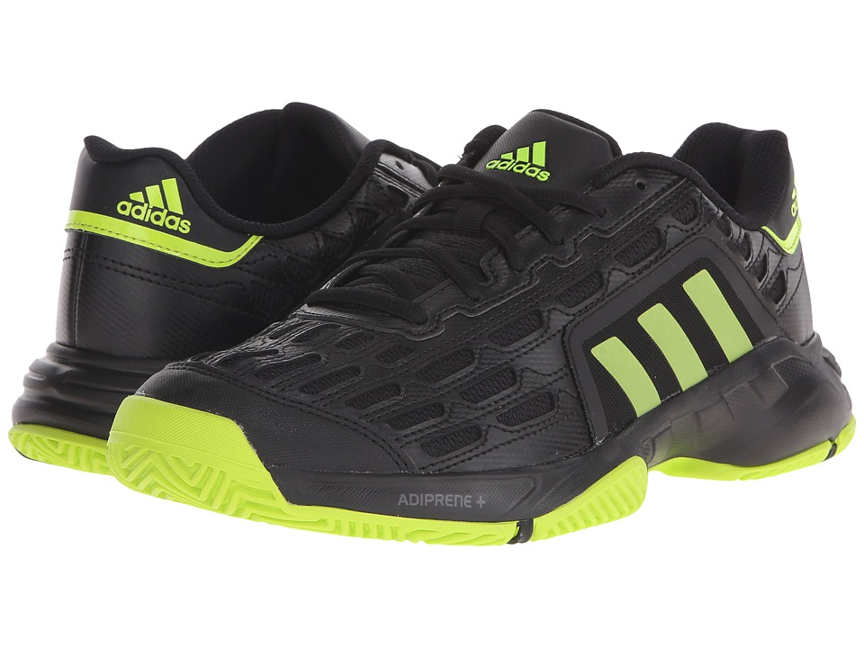 adidas - Barricade Court 2 (Black/Semi Solar Slime/Black(Mesh)) Men's Tennis Shoes