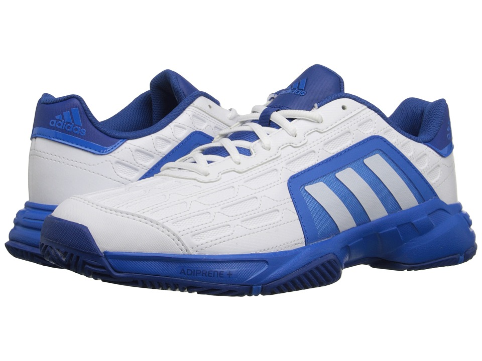 adidas - Barricade Court 2 (White/Shock Blue) Men's Tennis Shoes