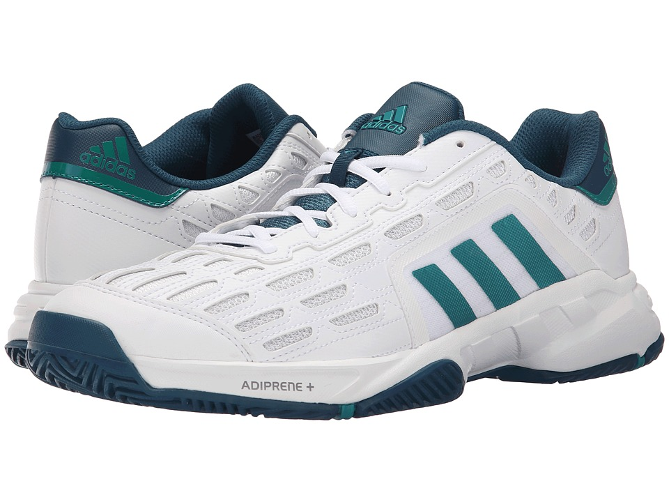adidas - Barricade Court 2 (White/EQT Green/Mineral(Mesh)) Men's Tennis Shoes