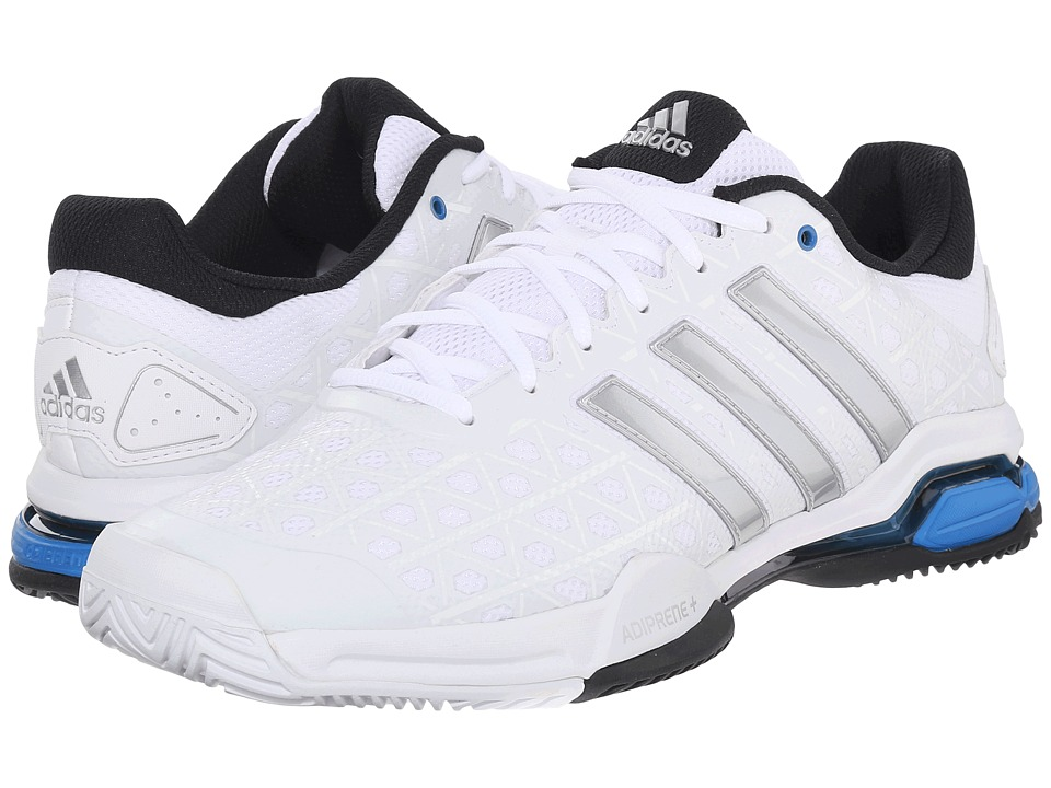 adidas - Barricade Club (White/Matte Silver/Black) Men's Tennis Shoes