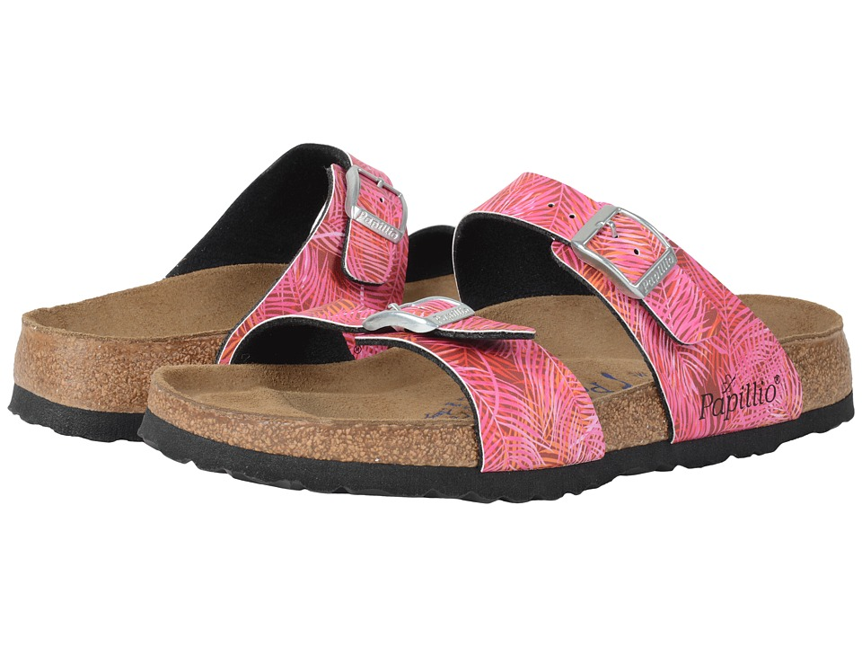 Birkenstock - Sydney Soft Footbed (Tropical Leaf Pink Birko-Flor ) Women's Sandals