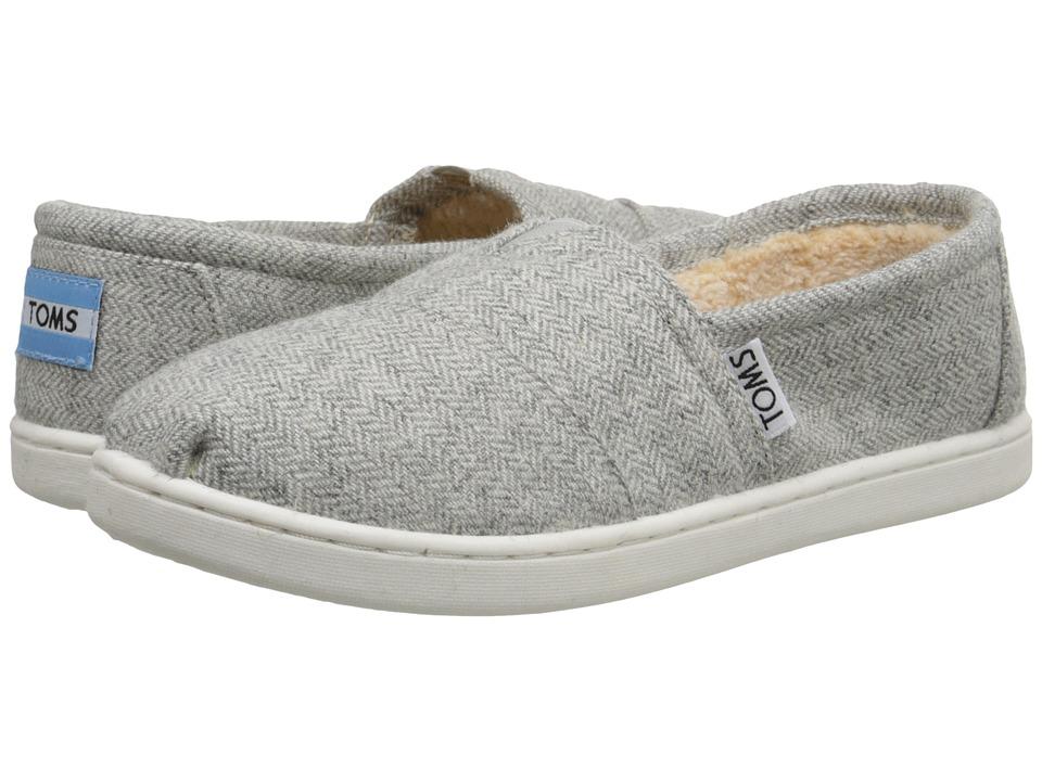 TOMS Kids - Seasonal Classics (Little Kid/Big Kid) (Grey Wool Herringbone) Kids Shoes