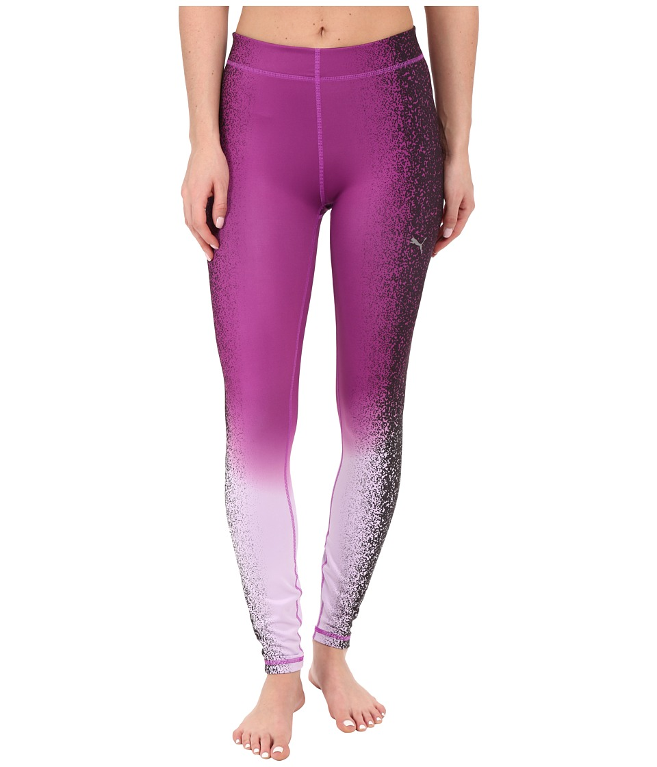 PUMA - All Eyes On Me Tights (Purple Cactus Flower/Black) Women's Clothing