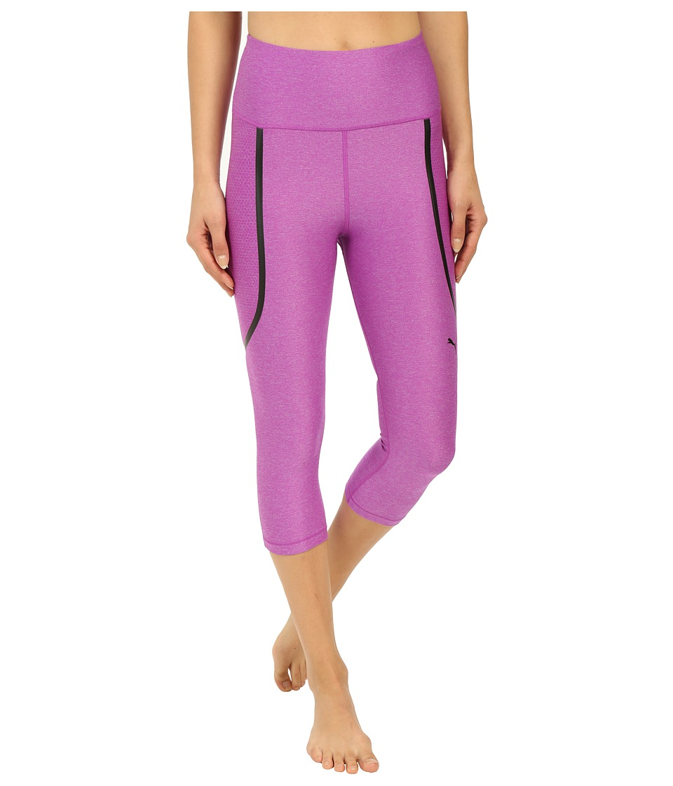 PUMA Pwrshape Knee Capris (Purple Cactus Flower) Women