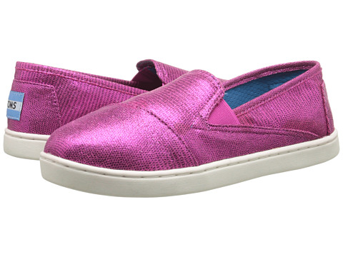 TOMS Kids - Avalon Sneaker (Little Kid/Big Kid) (Fuchsia Metallic Foil) Kids Shoes
