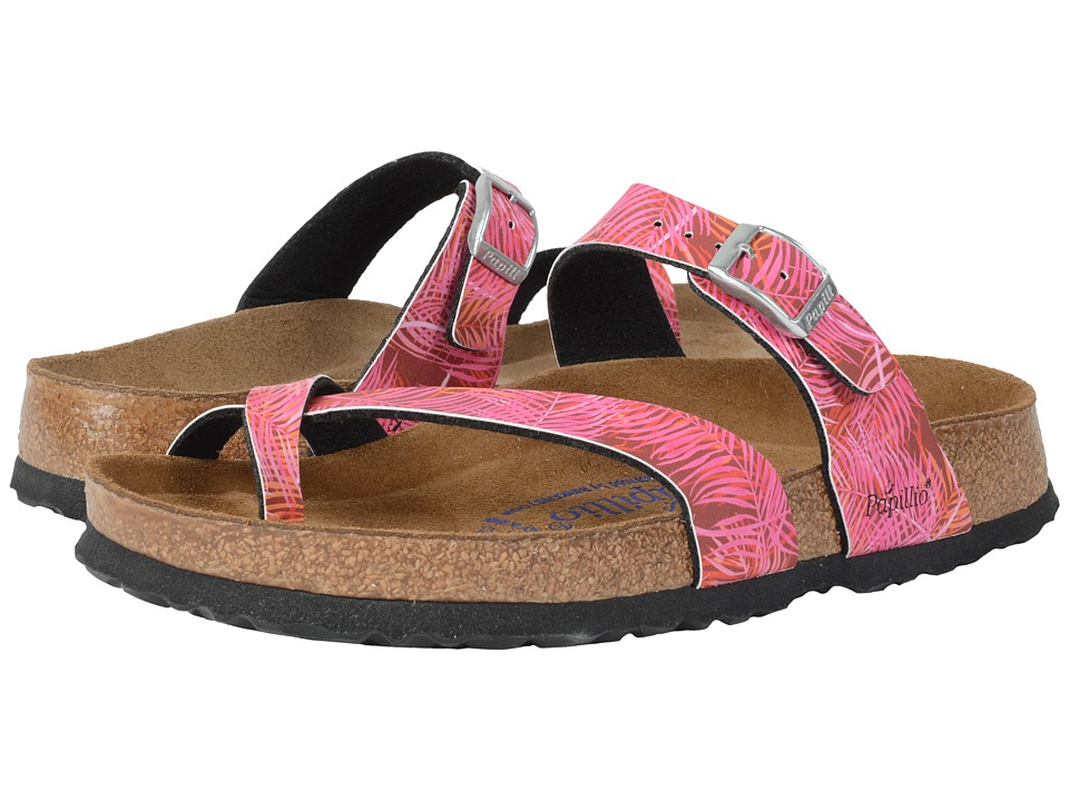 Birkenstock - Tabora Soft Footbed (Tropical Leaf Pink Birko-Flor ) Women's Shoes