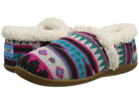 TOMS Kids - Slipper (Little Kid/Big Kid) (Fuchsia Woolen Fair Isle) Kids Shoes