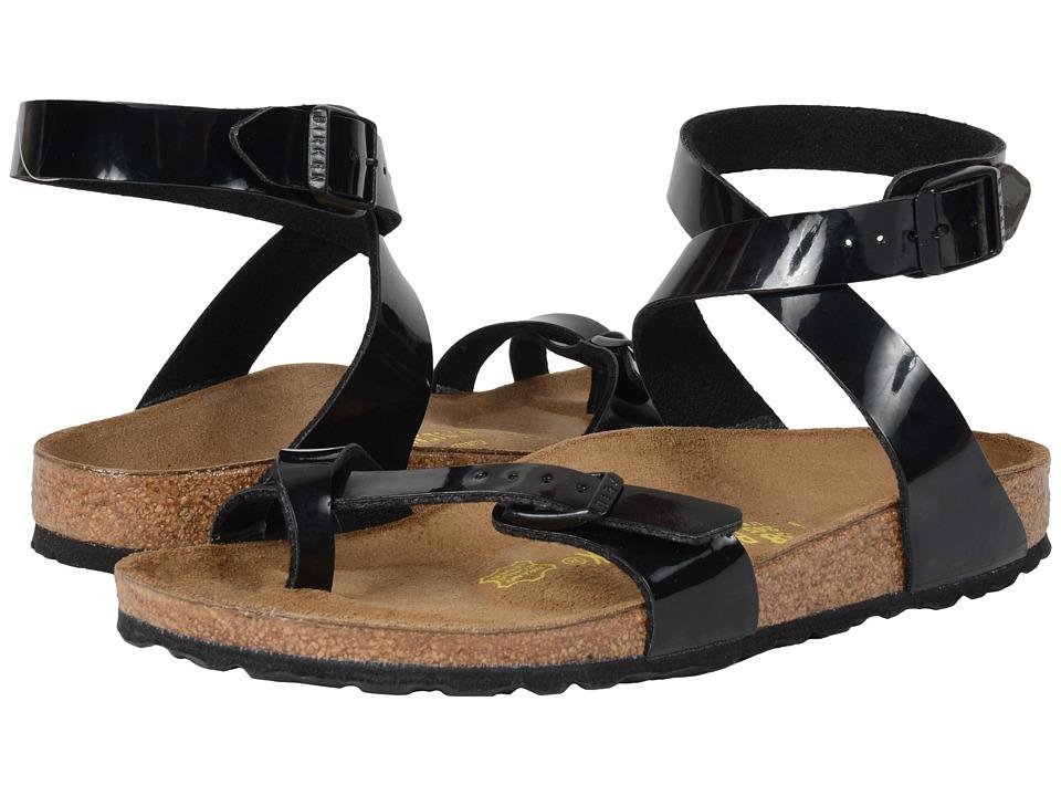 Birkenstock - Yara (Black Patent Birko-Flor ) Women's Sandals