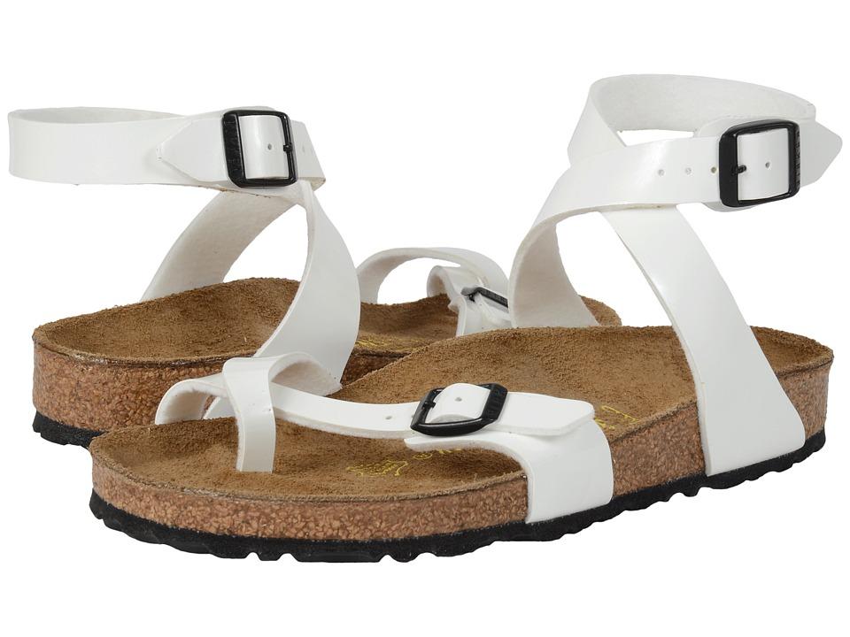 Birkenstock - Yara (Bright White Patent Birko-Flor ) Women's Sandals