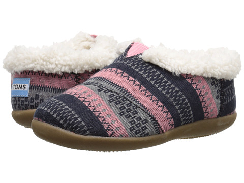 TOMS Kids - Slipper (Infant/Toddler/Little Kid) (Pink Woolen Fair Isle) Kids Shoes